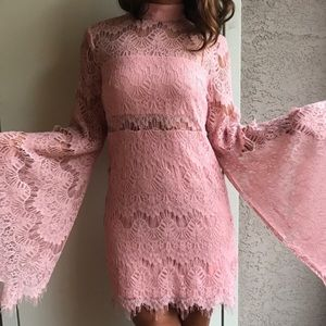 Minkpink drama queen lace long sleeve dress